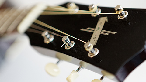 Gibson j-45 style guitar peghead detail Bagnasco & Casati